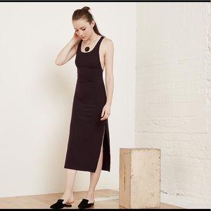 Reformation Diletta Dress in Fig, sz XL